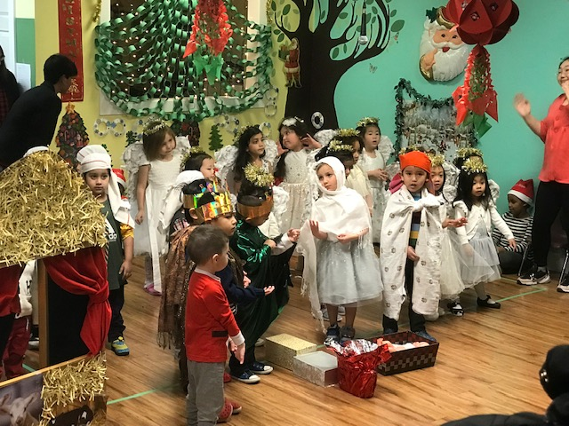 children perform their activity